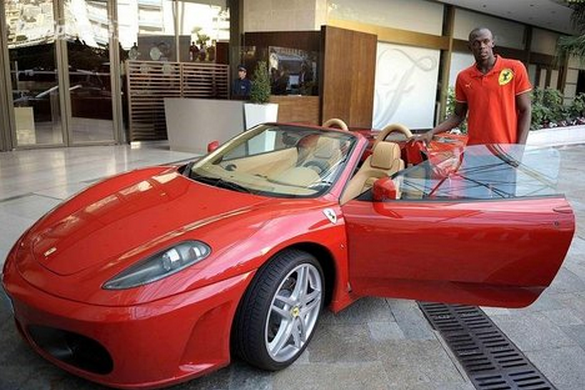 photo of Usain Bolt Ferrari F430 - car