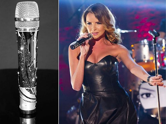 CrystalRoc creates Swarovski-studded microphone for Nadine Coyle